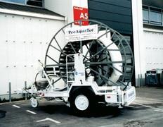 Rohrtrommel-Transportanhänger Nutzlast 6560 kg